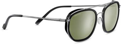 Boron - Shiny Dark Gunmetal and Black/Green 555nm Polarised Lenses