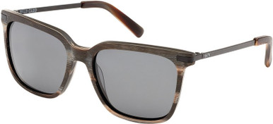 Wood Grey/Grey Polarised Lenses