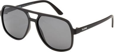 The Boss - Matte Black/Grey Polarised Lenses