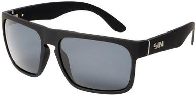 Black Rubber/Grey Polarised Lenses