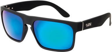 Peccant - Black Rubber/Green Blue Mirror Polarised Lenses