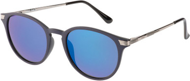 Navy and Silver/Ice Blue Flash Mirror Polarised Lenses