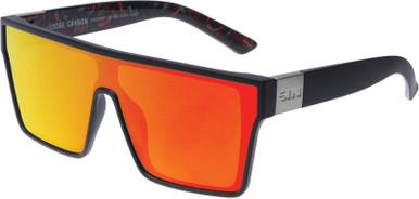 Matte Black Hot Tamale/Red Flash Polarised Lenses