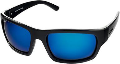 Gloss Black/Blue Mirror Glass Polarised Lenses