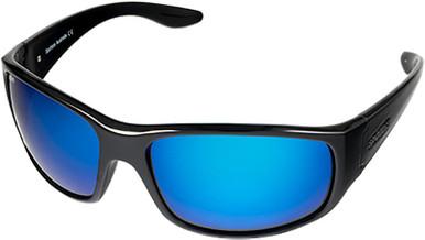 Cruiz - Gloss Black/Blue Mirror Glass Polarised Lenses
