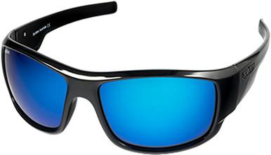 Droid - Gloss Black/Blue Mirror Glass Polarised Lenses
