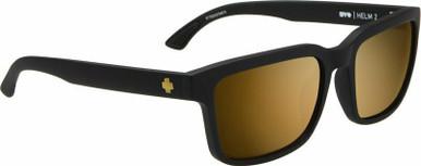 Helm 2 - Matte Black/HD Bronze with Gold Spectra Lenses