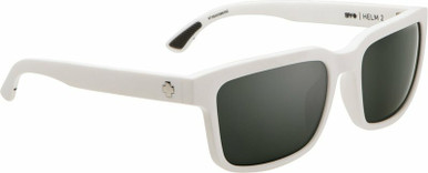 Helm 2 - Matte White/HD Grey Green with Silver Spectra Lenses
