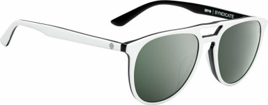 Syndicate - Matte White and Black/HD +Grey Green with Silver Spectra Lenses