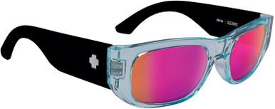 Genre - Translucent Aqua and Matte Black/Happy Grey and Purple Spectra Mirror Lenses