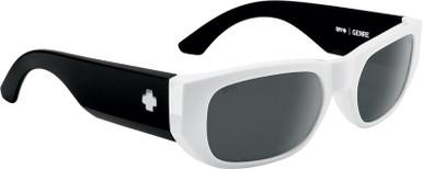 Genre - White Matte and Black/Happy Grey and Black Mirror Lenses