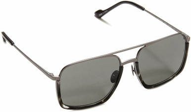 Alec - Black Demi/Grey Lenses