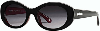 Gilmore - Elysium Black and Blood Plum/Ink Lenses