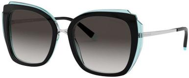 TF4160 - Black and Transparent Blue/Grey Gradient Lenses