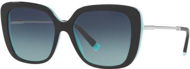TF4177 - Black on Tiffany Blue/Azure Blue Gradient Lenses