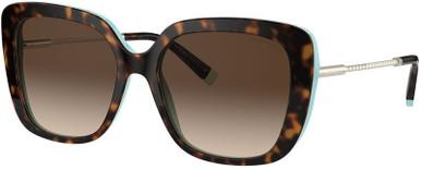 TF4177 - Havana on Tiffany Blue/Brown Gradient Lenses