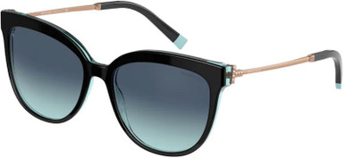 TF4176 - Black on Crystal Tiffany Blue/Azure Blue Gradient Lenses