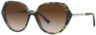 TF4179B - Crystal Tiffany Blue on Havana/Brown Gradient Lenses