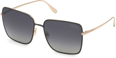 Heather FT0739 - Grey and Gold/Grey Gradient Lenses