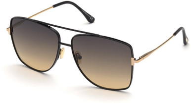Reggie FT0838 - Black and Gold/Grey and Gold Gradient Lenses