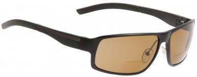 Matt Black/Bifocal +2.0 Brown Polarised Lenses