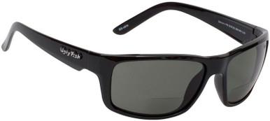 Black/Bifocal +2.5 Smoke Grey Polarised Lenses