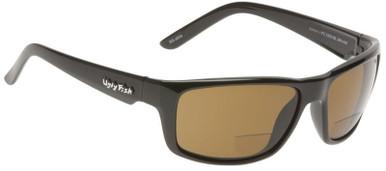 Black/Bifocal +2.0 Brown Polarised Lenses