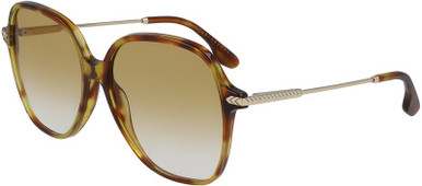 Blonde Havana and Gold/Honey Gradient Lenses