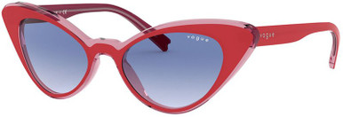 Top Red Transparent Pink/Clear Blue Gradient Lenses