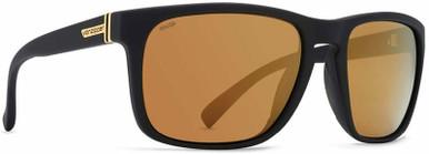 Lomax - Black Satin/Gold Wild Flash Polarised Lenses