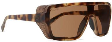 Defender - Dusty Tortoise Satin/Brown Blue Lenses