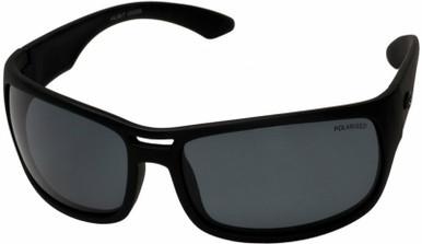 Halibut - Black/TAC Grey Polarised Lenses