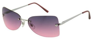 SE-040 - Silver/Pink Gradient Lenses