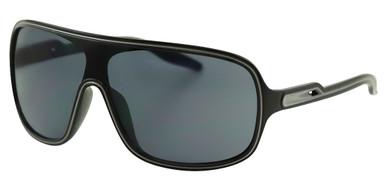 CE3 Shield - Black and Silver/Smoke Lenses