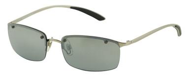 SE-034 - Silver/Smoke Mirrored Lenses