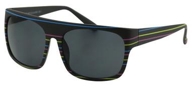 CE3 Flat - Matte Black Stripe/Smoke Lenses