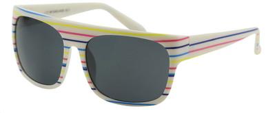 CE3 Flat - White Stripe/Smoke Lenses