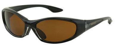 Mallee - Black/Brown Glass Polarised Lenses