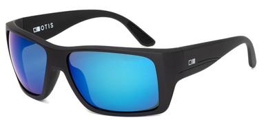 Coastin - Matte Black/Mirror Blue Glass Polarised Lenses