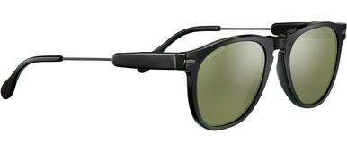 Shiny Dark Gunmetal Shiny Black Acetate/Min 555nm Polarised Lenses