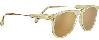 Shiny Light Gold Champagne Translucide Acetate/Min Drivers Gold Polarised Lenses