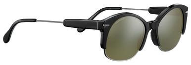 Shiny Gunmetal Shiny Black Acetate/Min 555nm Polarised Lenses