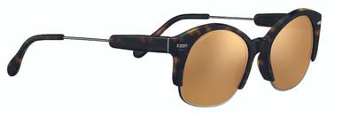 Shiny Gunmetal Dark Tortoise/Min Drivers Gold Polarised Lenses