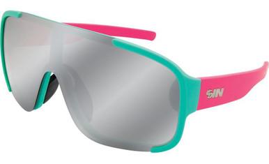 Aqua Pink/Silver Flash Polarised Lenses