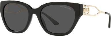 LAKE COMO MK2154 - Black/Dark Grey Solid Lenses
