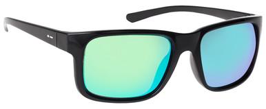 Black Gloss/Green Chrome Lenses
