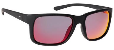Black Satin/Red Chrome Polarised Lenses