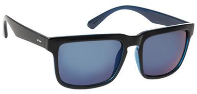 Black Blue Gloss/Blue Chrome Lenses