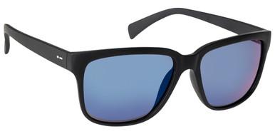 Black Satin/Blue Chrome Polarised Lenses