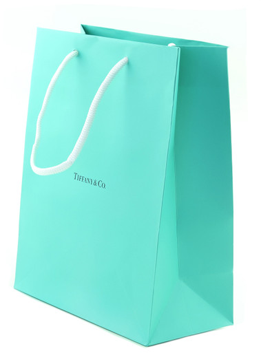 Tiffany & Co. Shopping Bag - Tiffany Blue with White Rope Handle